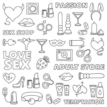 Modello con giocattoli per adulti Negozio di sesso, negozio di adulti, negozio di adulti