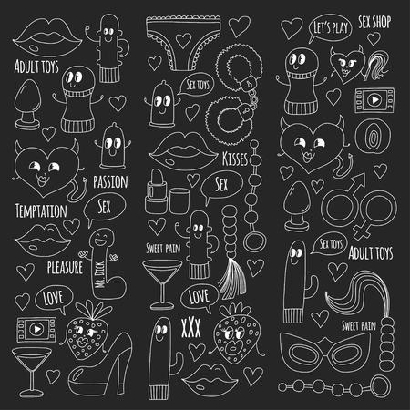 Doodle vecteur humoristique. Banque d'images - 76075166