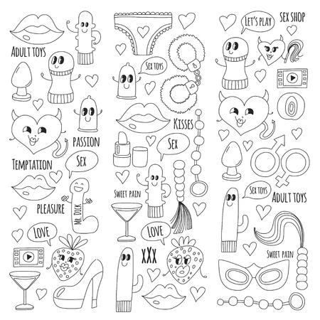 Doodle vecteur humoristique. Banque d'images - 76075161