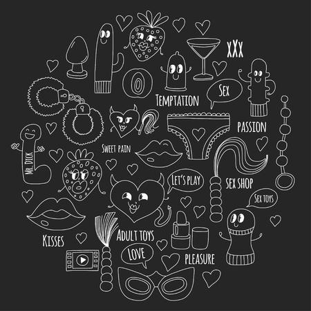 wild strawberry: Doodle humorous vector. Illustration