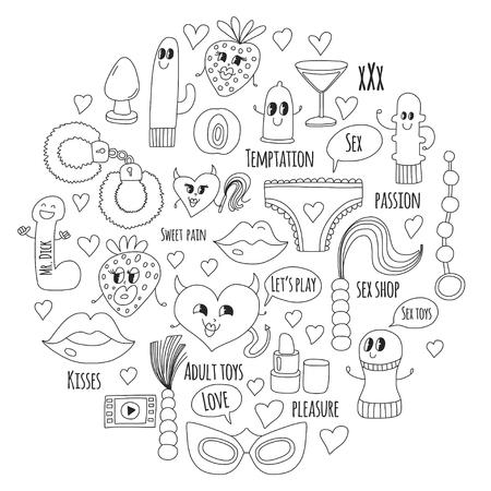 Doodle vecteur humoristique. Banque d'images - 76075163