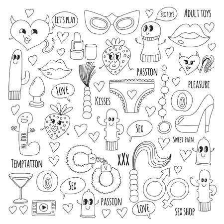 Doodle vecteur humoristique. Banque d'images - 76075277