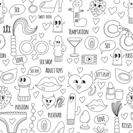 Doodle vecteur humoristique. Banque d'images - 76075280