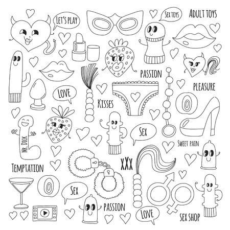 Doodle humorous vector. Illustration