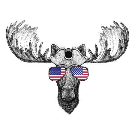 Moose, elanden dragen piratenhoed Cocked hat, tricorn Zeeman, zeeman, zeeman of zeevarende