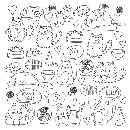 Doodle pattern for banner, poster, textile and kids drawing for preparatory level.