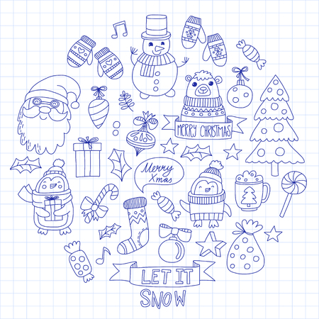 Kerstmis Nieuwjaar ontwerp. Stockfoto - 85213564