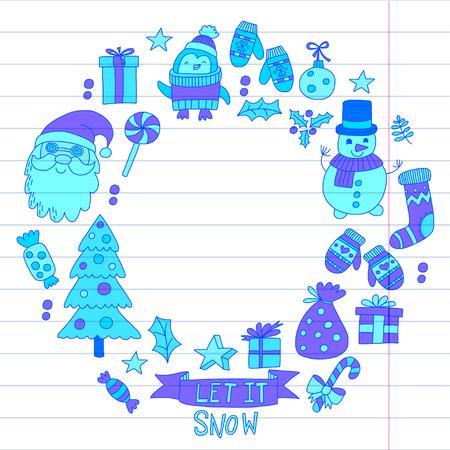 Christmas Xmas New year design.