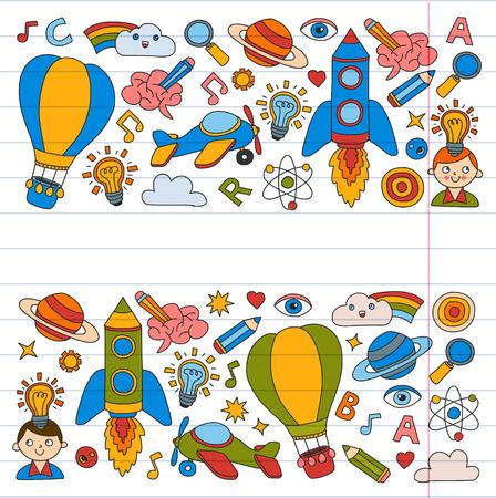 Set of doodle icons Иллюстрация