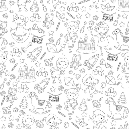 Kindergarten Nursery Preschool School Education With Children Magnificent Doodle Patterns