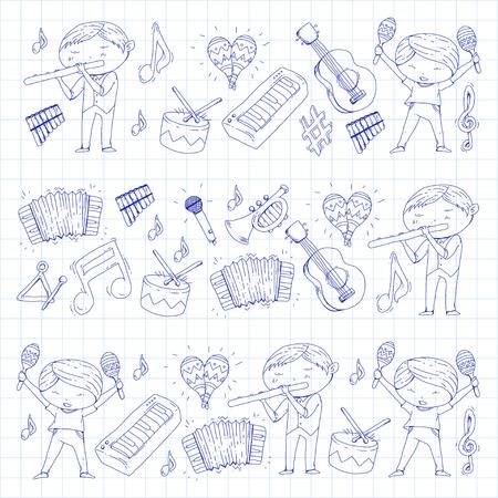 Orquestra infantil ilustração vetorial sem emenda Foto de archivo - 92339267