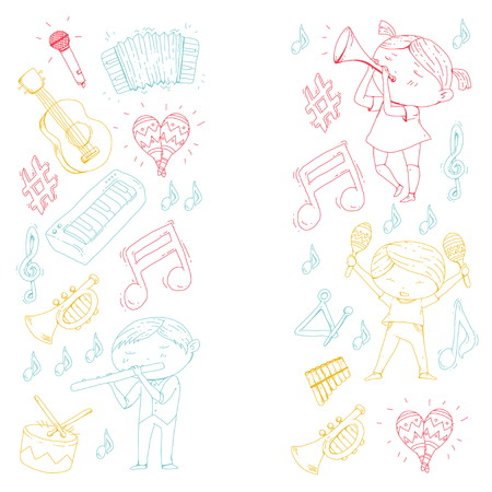 Children's orchestra vector illustration Stock Vector - 92339272