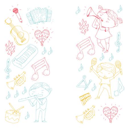 Ilustração vetorial de orquestra infantil Foto de archivo - 92339272