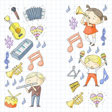 Illustration vectorielle pour enfants orchestre Banque d'images - 92339268