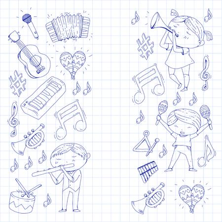 Ilustração vetorial de orquestra infantil Foto de archivo - 92339273