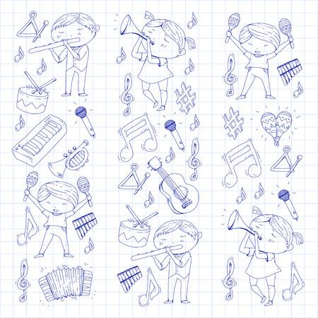 Illustration vectorielle pour enfants orchestre Banque d'images - 92342002