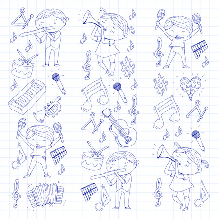 Kinder orkest vectorillustratie