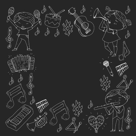 Musical theatre for Kindergarten children vector illustration