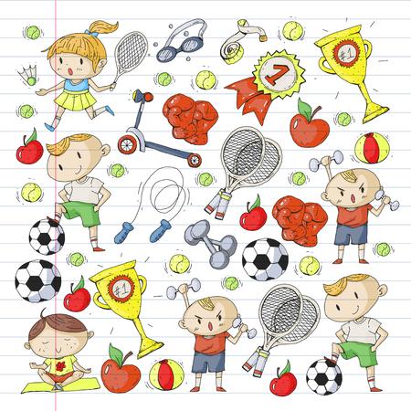 Caçoa o desenho da ilustração diferente do teste padrão dos esportes. Foto de archivo - 92479928