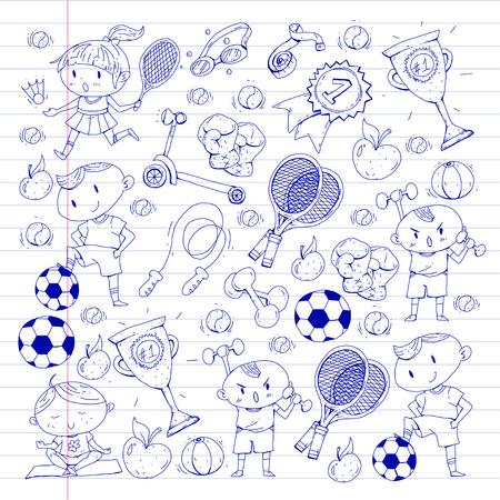 Caçoa o desenho da ilustração diferente do teste padrão dos esportes. Foto de archivo - 92479929