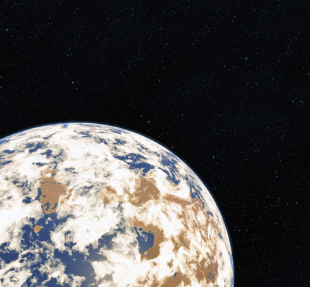 3D Rendering World Globe from Space. Earth. View of Earth From Space.