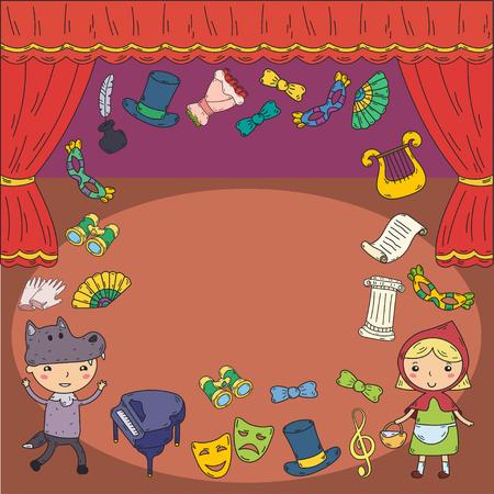 Ilustracja wydajności dla dzieci Ilustracje wektorowe