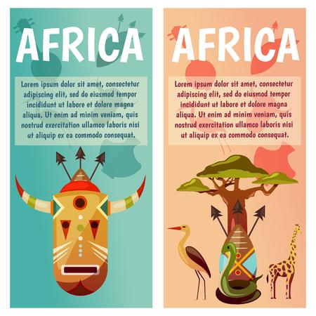 Afrique modèle de conception de bannière de voyage Banque d'images - 97102163
