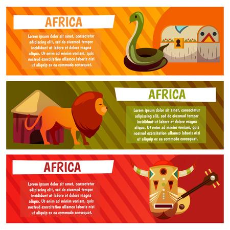 Afrique modèle de conception de bannière de voyage Banque d'images - 97102202