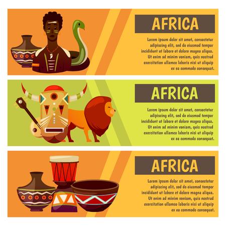 アフリカ旅行バナーデザインテンプレート。