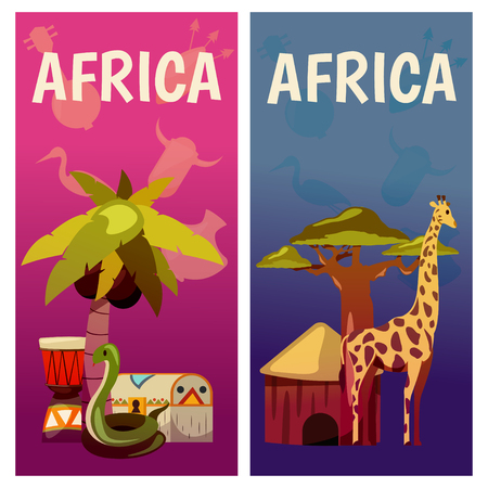 Afrique modèle de conception de bannière de voyage Banque d'images - 97102275