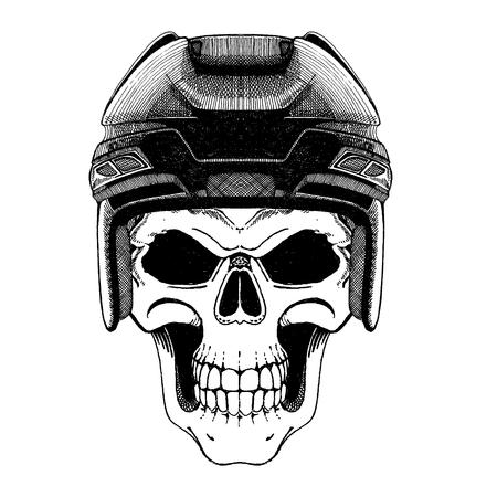 Illustration monochrome du joueur de hockey . hockey jeu Banque d'images - 98381337