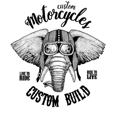African or indian Elephant Hand drawn illustration for tattoo, emblem, badge, logo, patch, t-shirt