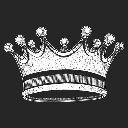 Vector crown. Cool emblem for rock festival.