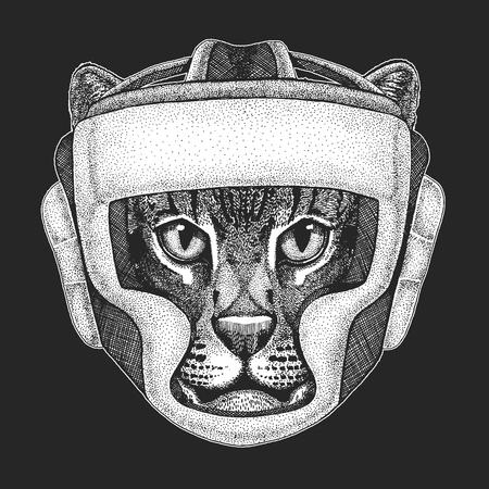 Athletic animal Boxing champion.