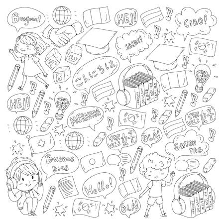 Ecole de langue pour adultes, enfants. Cours enfants. Anglais, italien, espagnol, japonais, chinois arabe allemand Jouer et étudier