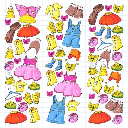 Vêtements et mode pour enfants. Robe, jupe, short. écharpe, pantalon pour garçons et filles. Mode enfant. Été, hiver printemps automne vente