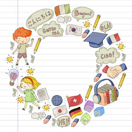 Ecole de langue pour adultes, enfants. Cours enfants. Anglais, italien, espagnol, japonais chinois arabe allemand Jouer et étudier