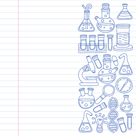 Vector set of chemistry, science icons
