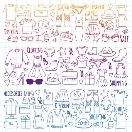 Shopping, market, store Clothing and fashion icons