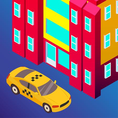 Taxi vector car illustration. Transport icon, symbol of transportation. Vehicle traffic banner design. Speed delivery Foto de archivo - 125851319