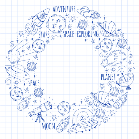 Space vector illustration. Background for banner designs.