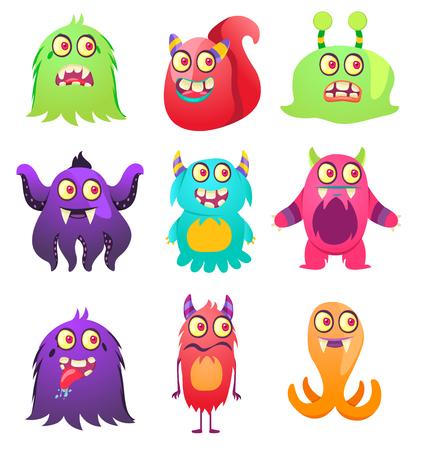 Cute Monsters. Cartoon aliens from space for kindergarten children. Foto de archivo - 118917963