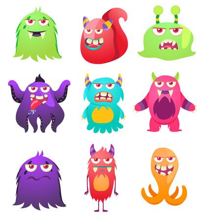 Cute Monsters. Cartoon aliens from space for kindergarten children. Foto de archivo - 118917975