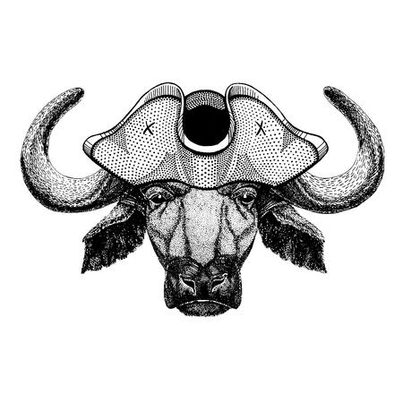 Buffalo, bull, ox Illusztráció
