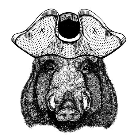 Aper, zwijn, zwijn, wild zwijn Vector Illustratie