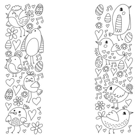 Pattern kids fabric, textile, nursery wallpaper Vector illustrations