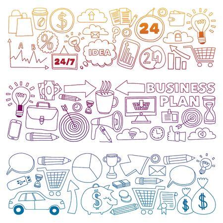 Conceptual illustration of projects organization, risk, development. Team working, budget planning Illustration