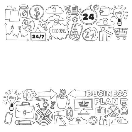 Illustration conceptuelle de l'organisation des projets, des risques, du développement. Travail d'équipe, planification budgétaire.