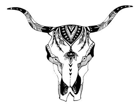 Bohemian, boho vector illustration. Wild and free ethnic gypsy symbol.