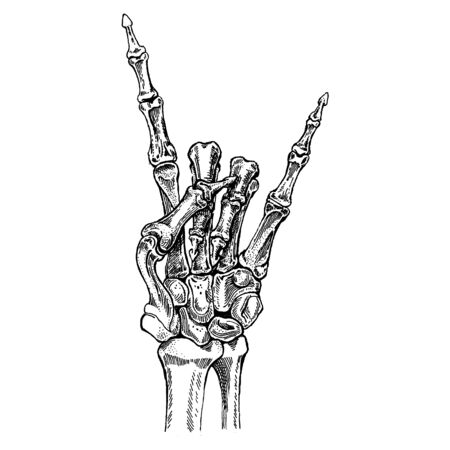Rock music festival. Cool print for poster, banner, t-shirt with hand. Rock-n-roll stars Vetores